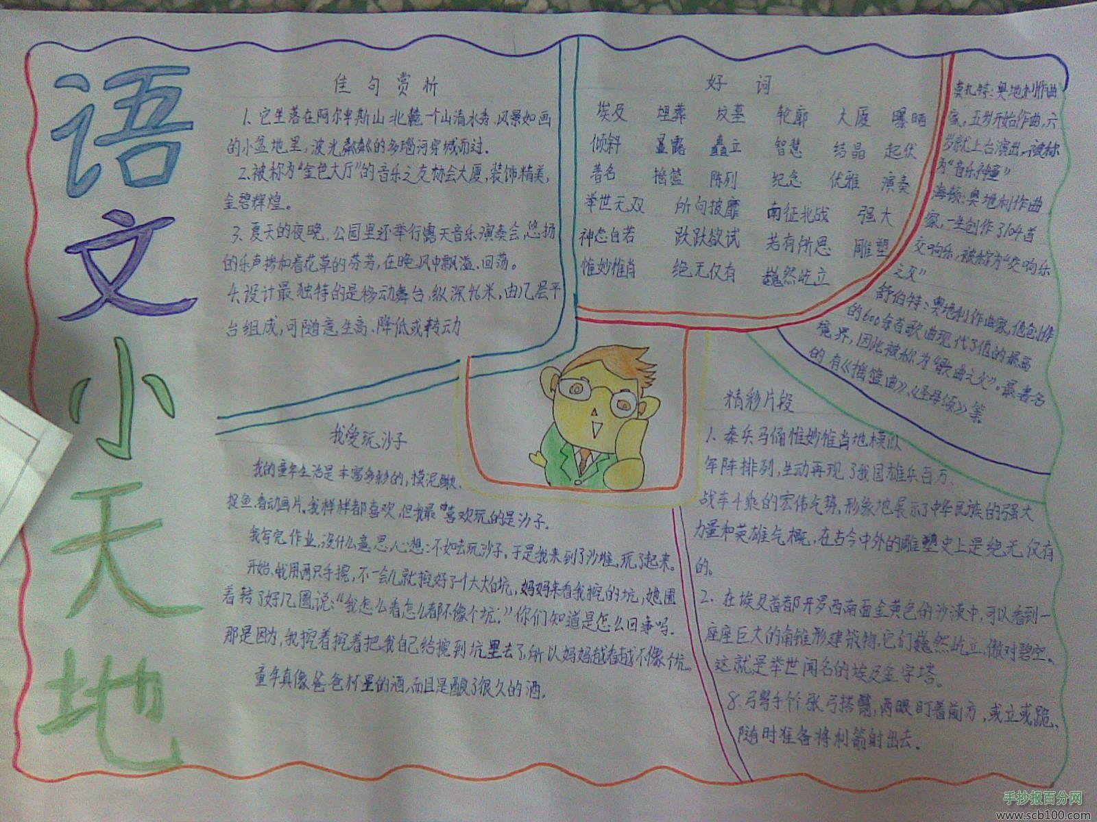二年级上册语文手抄报图片大全