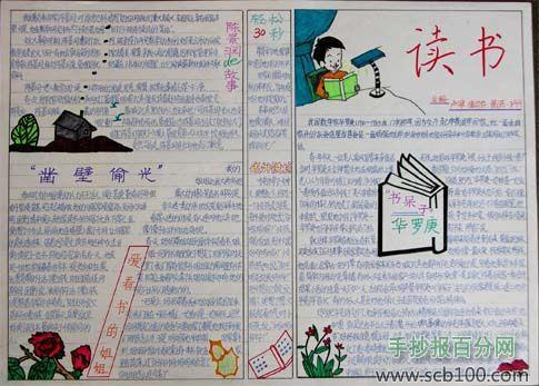 六年级读书手抄报版面设计图图片
