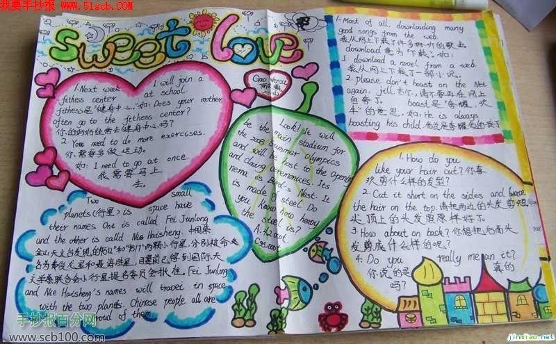 六年级英语手抄报作品高清图片