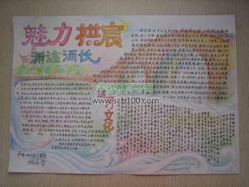 闽南文化手抄报作品