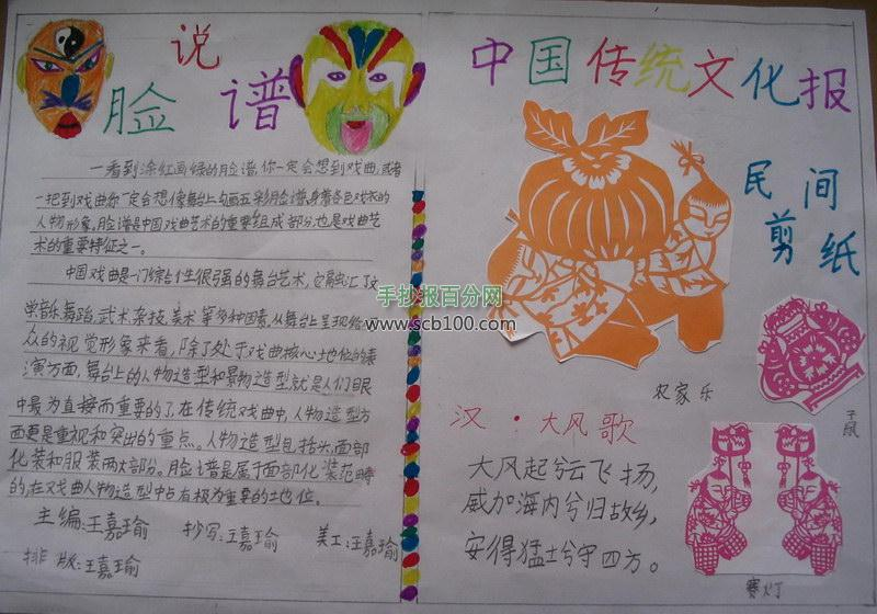 中国传统文化手抄报作品