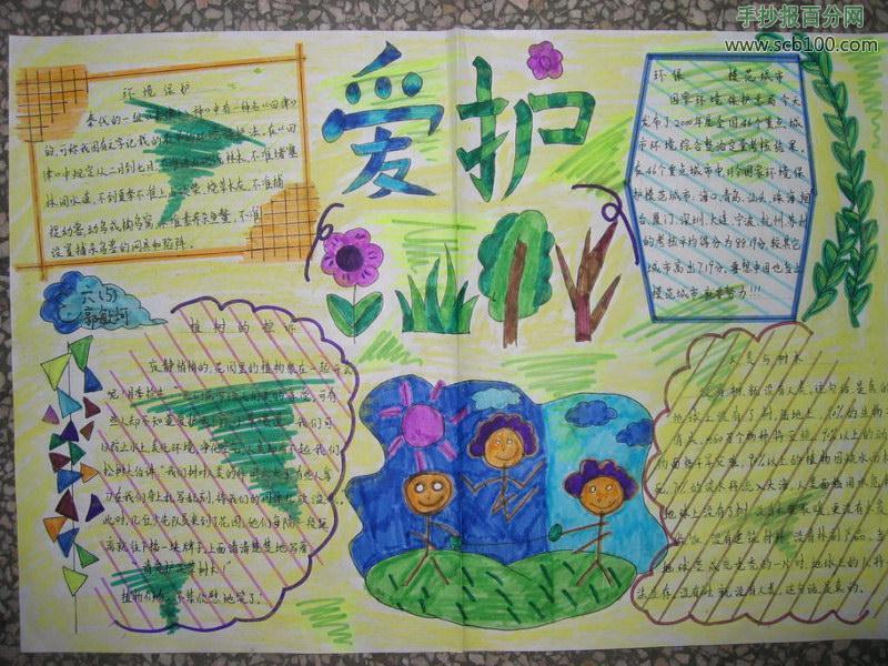 地球我的家园世界环境日手抄报图片设计