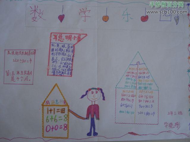 幼儿数学乐园手抄报模板