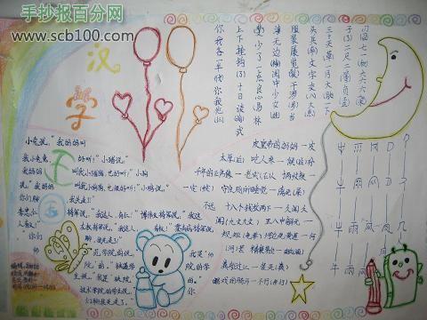 汉字王国手抄报设计图